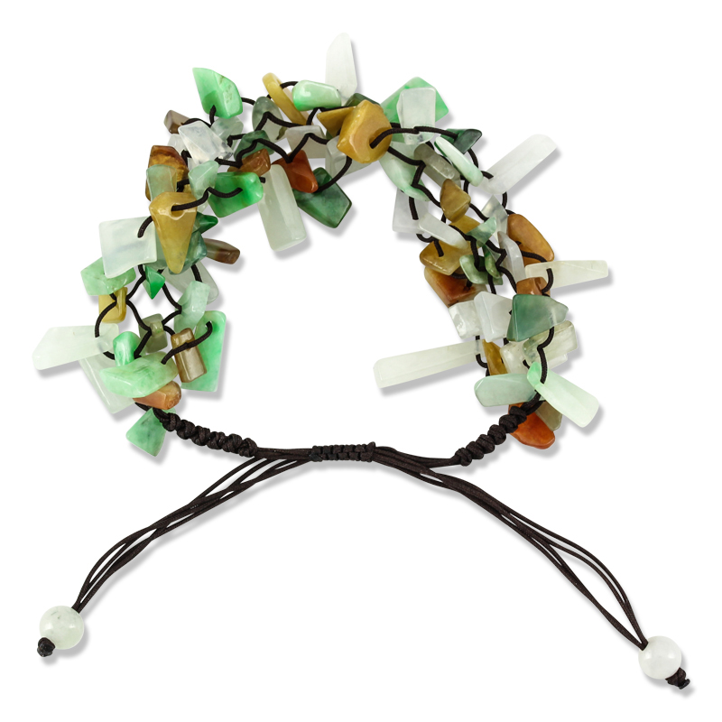 Natural Multi-Color Free-Form Bead Bracelet by Mason-Kay Jade
