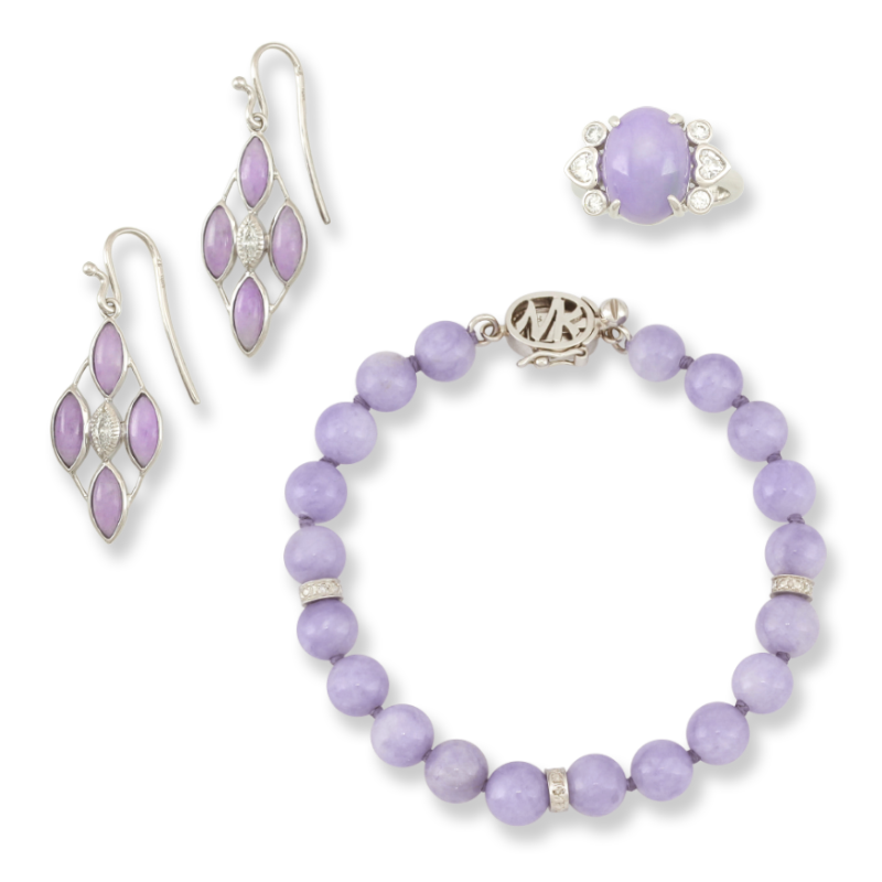 Natural Lavender Jadeite Jade Jewelry