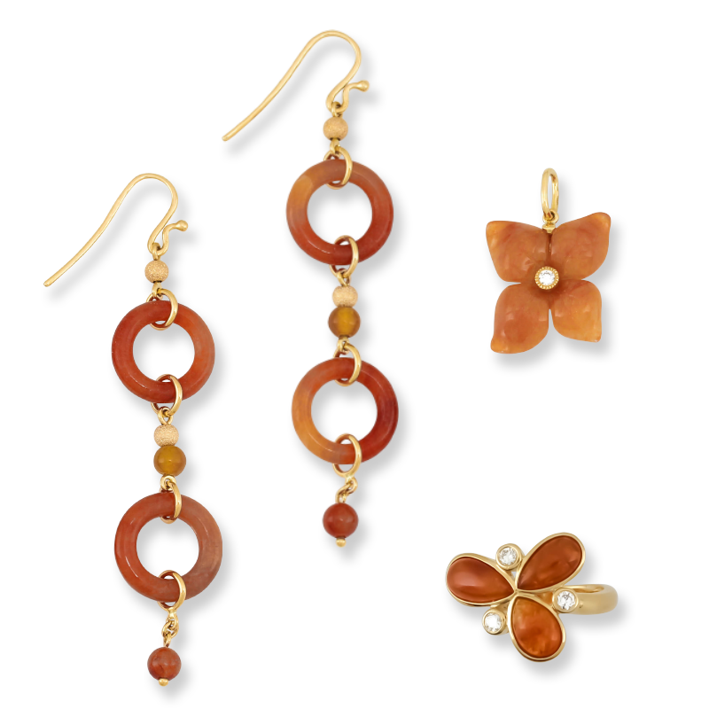 Natural Red Jade Jewelry