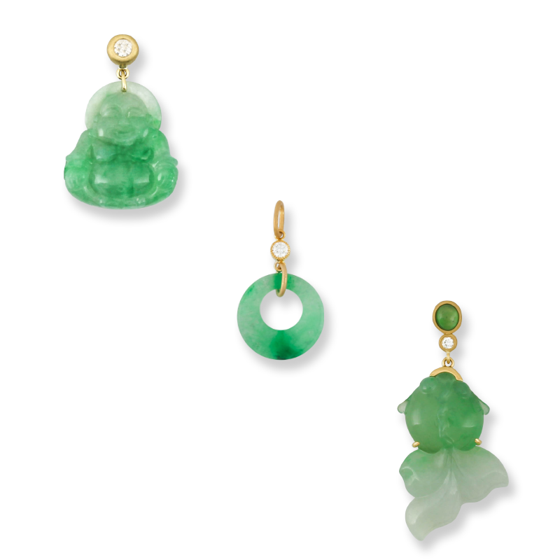 Natural Green Jade Pendants