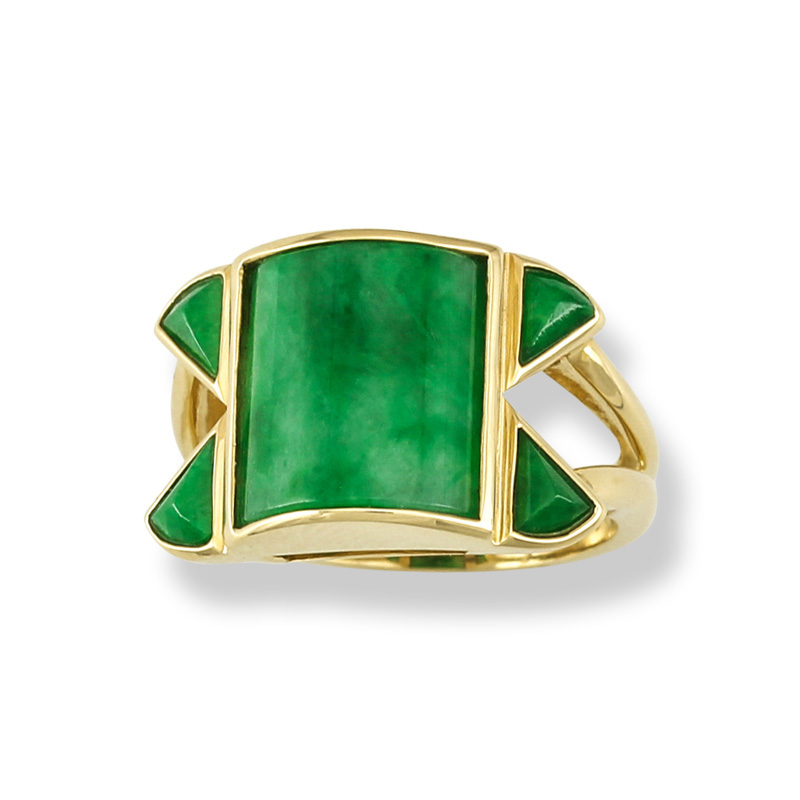 Mason-Kay Green Jade Ring Featured in JCK Magazine Mar/Apr Spring Forward Issue