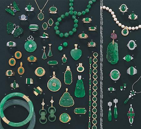 Jadeite Jade Jewelry by Mason-Kay Catalog-Vol. VI Page 2 & 3